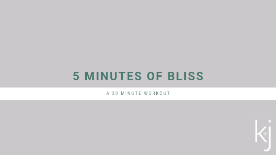 30 Minute Workout: 5 Minutes at a Time